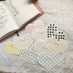 Dot Sticker Heart Flakes
