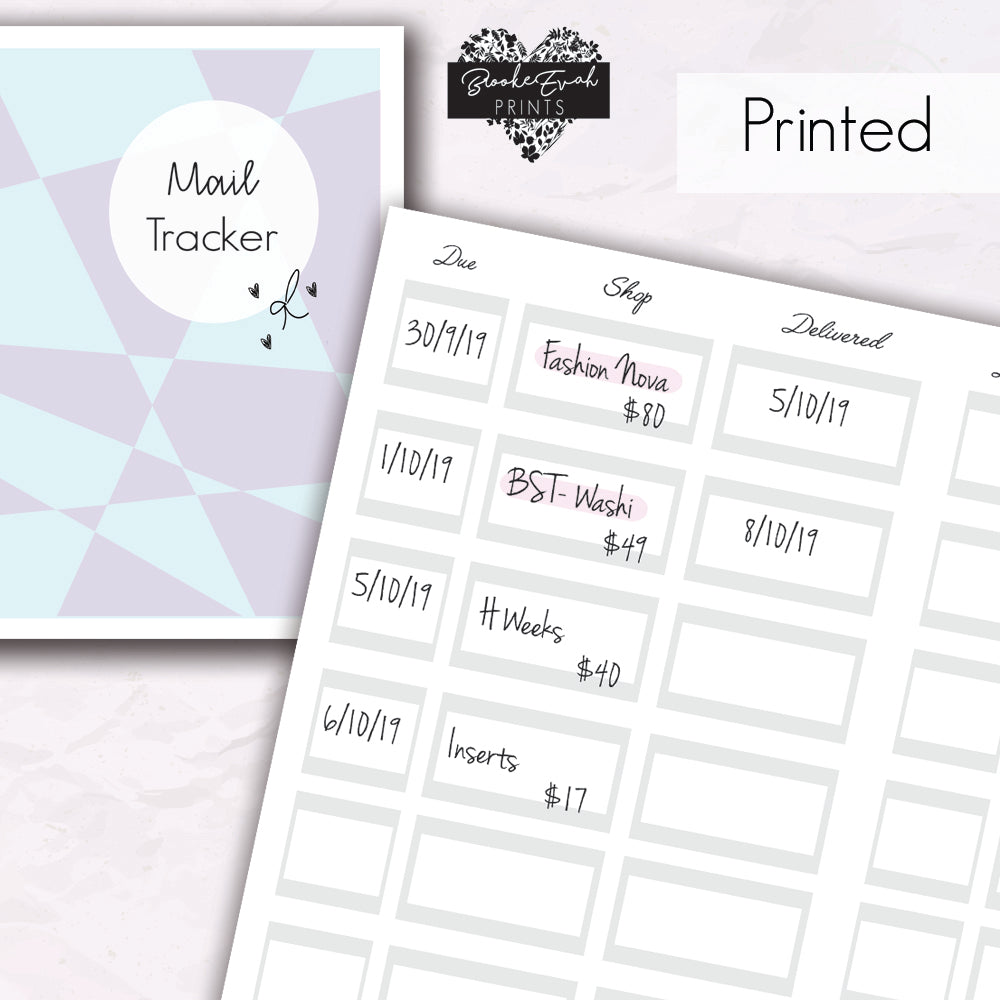 Mail Tracker - BrookeEvahPrints