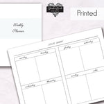 Weekly Planner Boxes without grid - BrookeEvahPrints