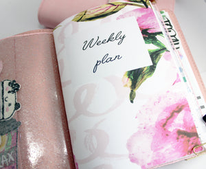 Vertical Weekly With Blush Pink - BrookeEvahPrints