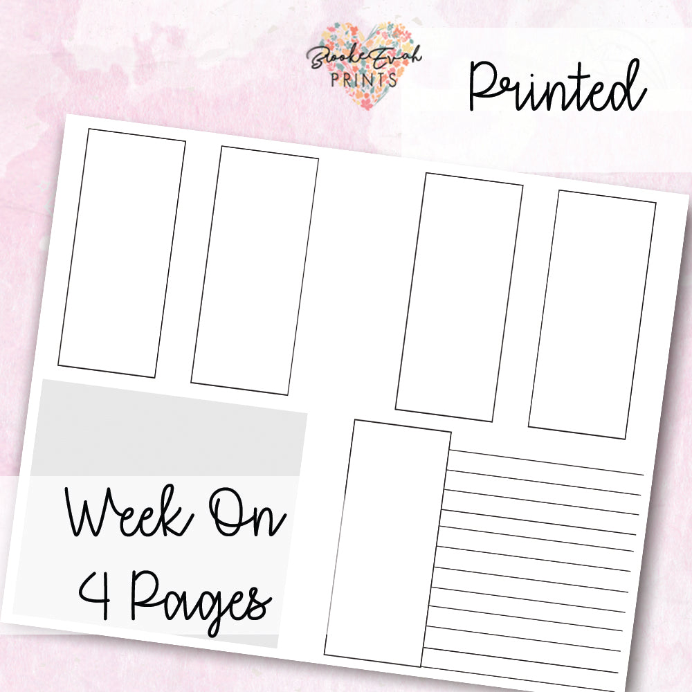 B6 Neutral Week On Four Pages - BrookeEvahPrints