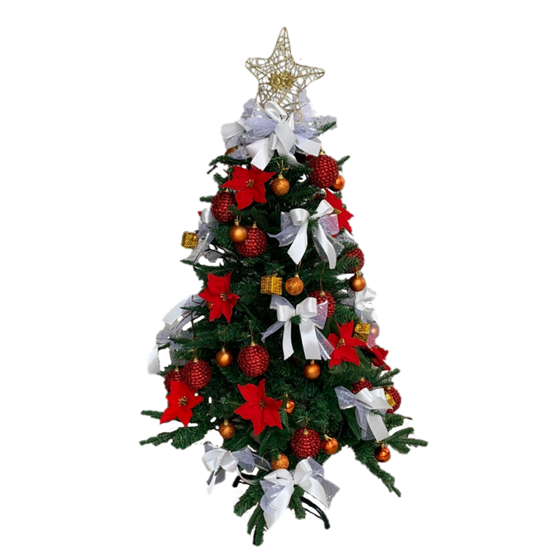 Sanford Fir Christmas Tree in Red & White (Artificial)