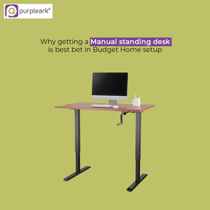 Why Getting A Manual Standing Desk Is The Best Bet In Budget Home Setup?
