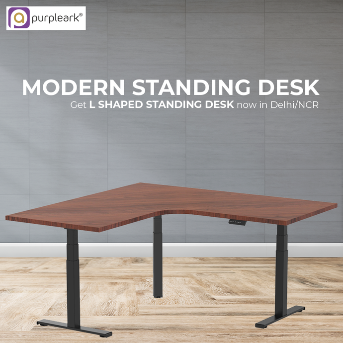 Modern Standing Desk: Get L shaped Standing Desk now in Delhi/NCR