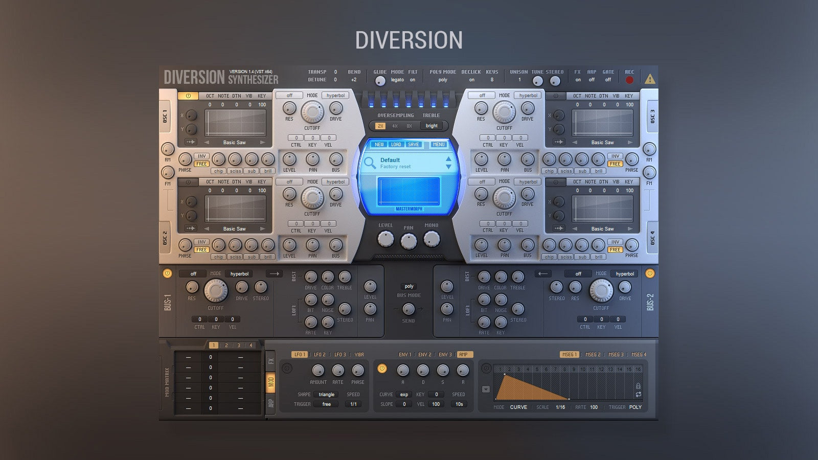 Dmitry Sches Diversion VST Synth GUI by Voger Design