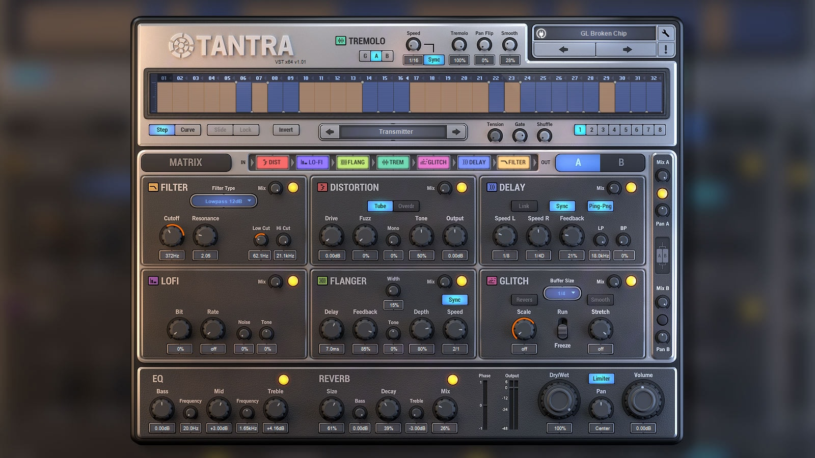 Dmitry Sches Tantra VST Plugin ui design