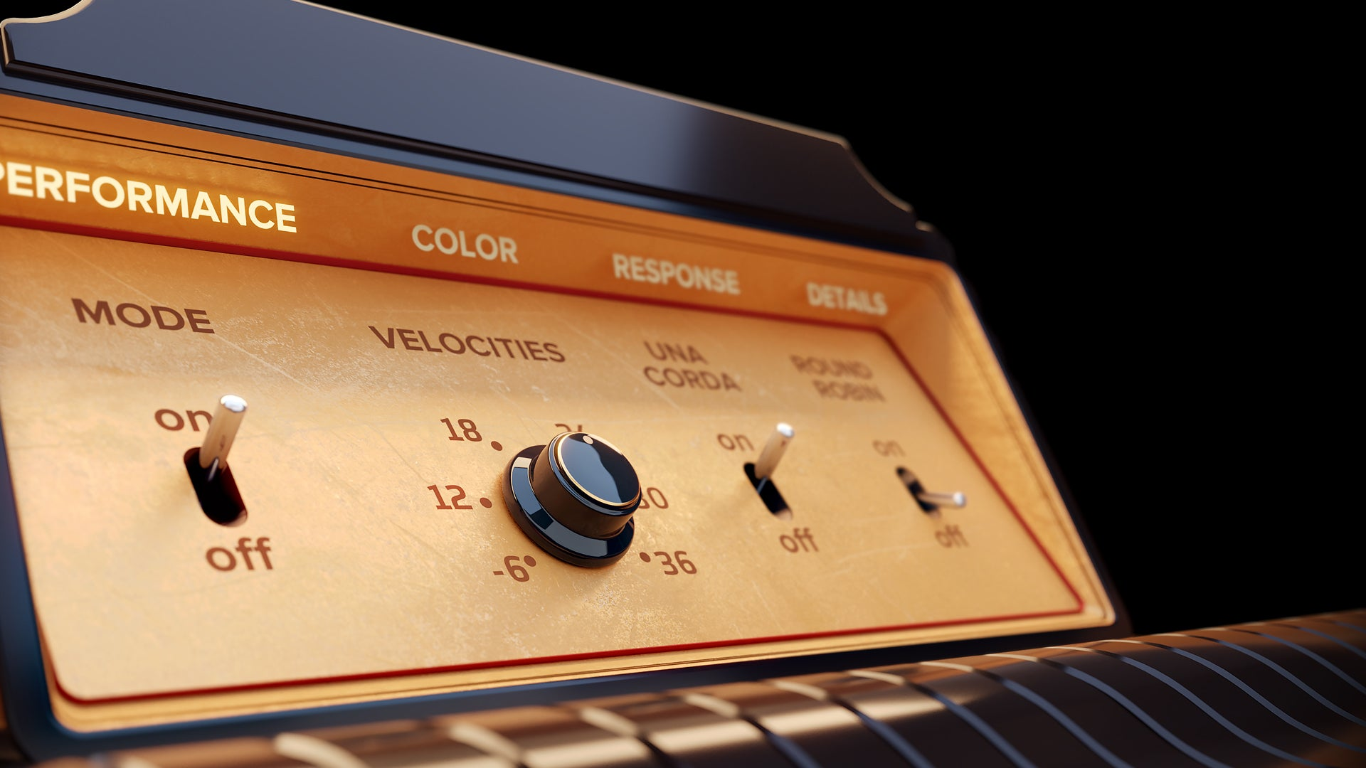 Voger GUI design for Walker Piano Embertone Instrument