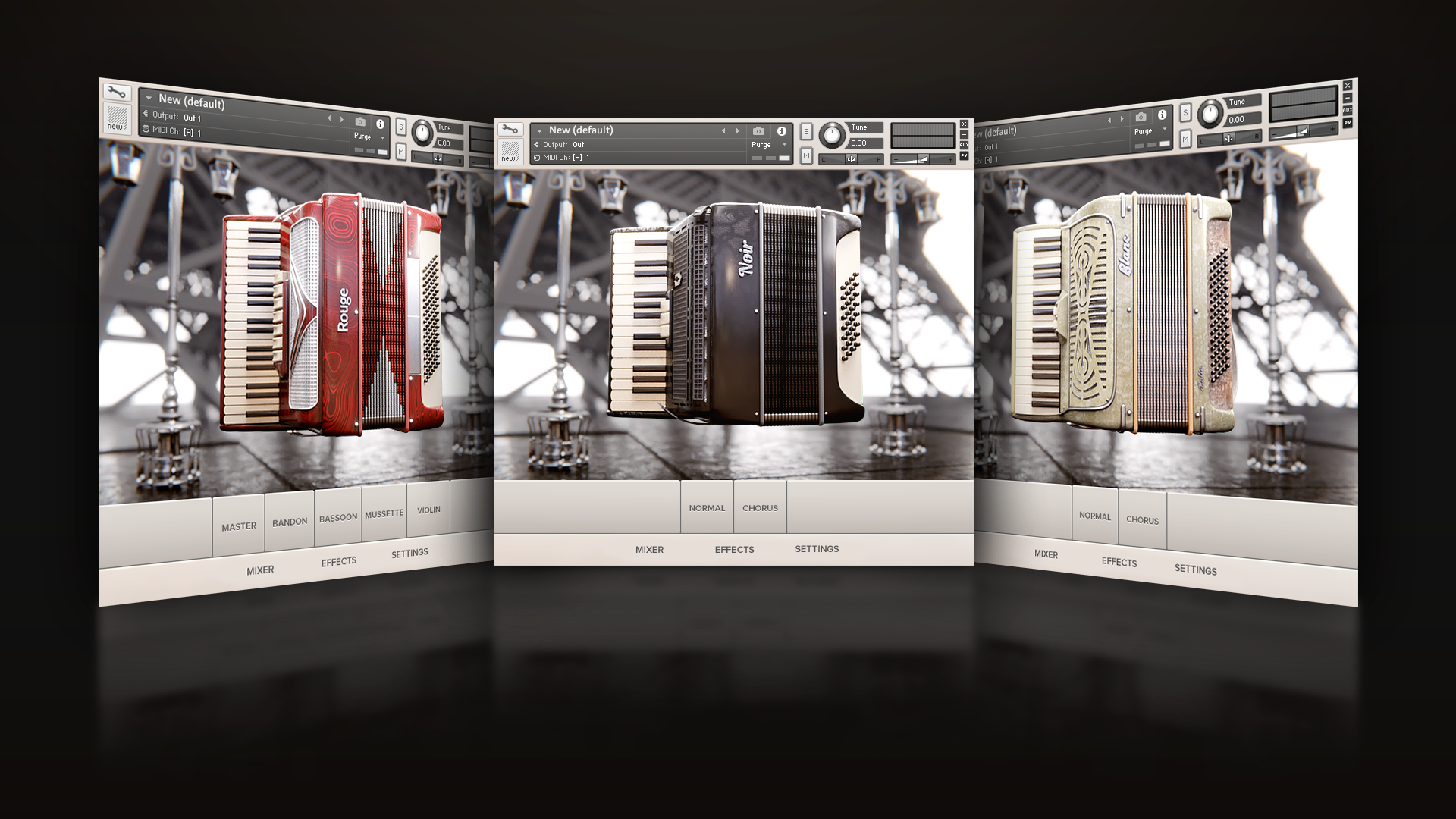 Wavesfactory LeParisien Accordion Kontakt Library GUI by Voger Design