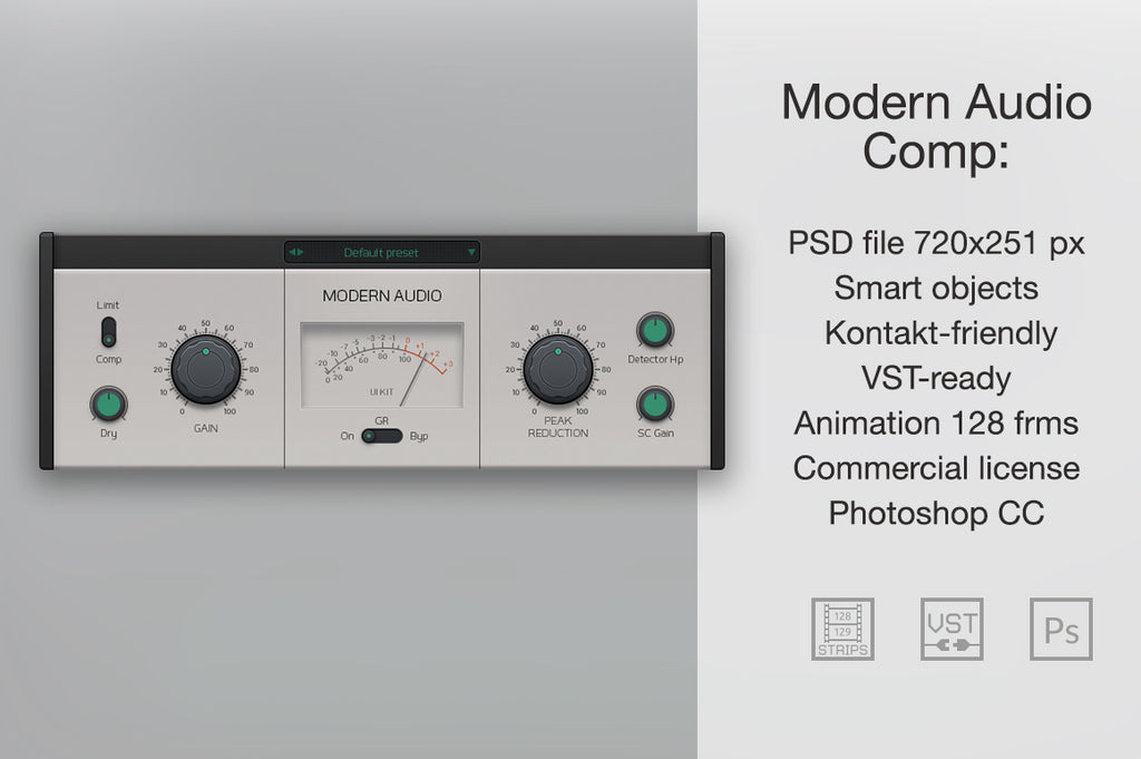 Modern Audio Comp GUI features
