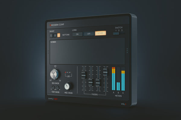 Dark Modern PSD UI Kit for audio plugin