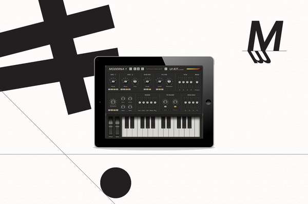 iPad synth ui templates