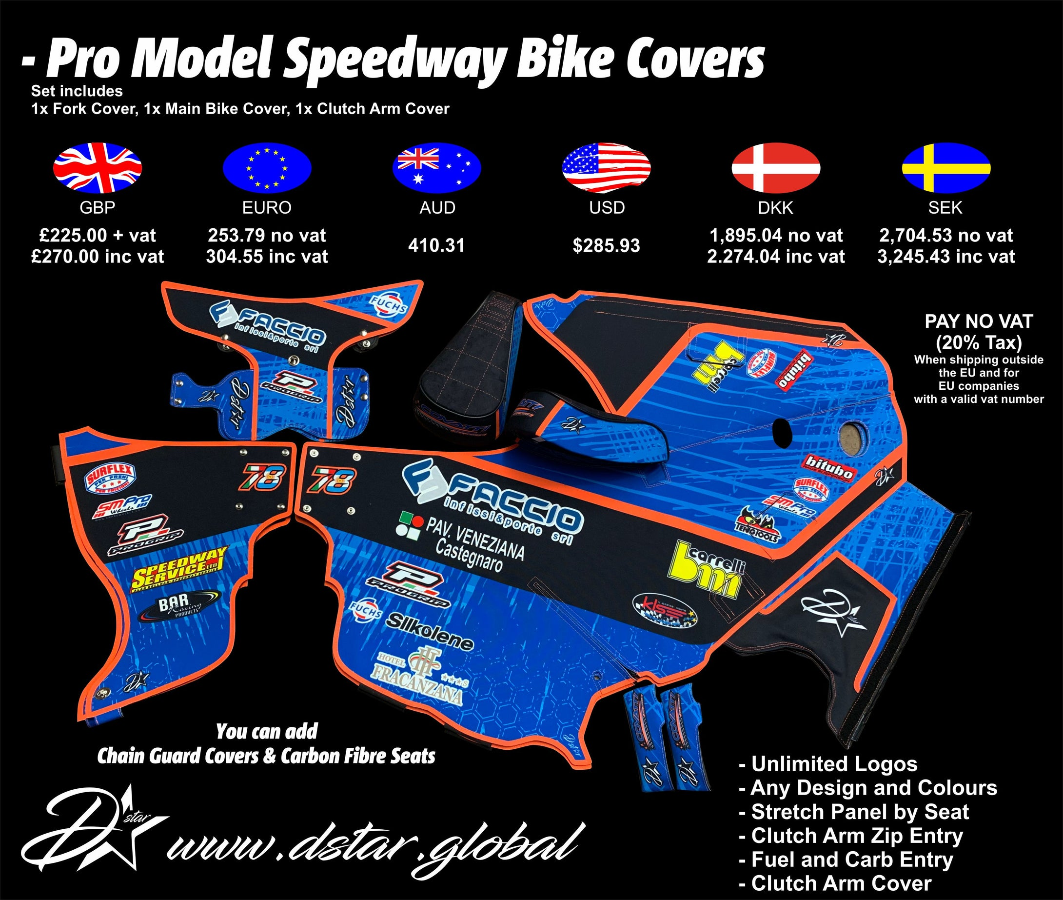 Speedway Motorcycle Bike covers - chapel zuzel
