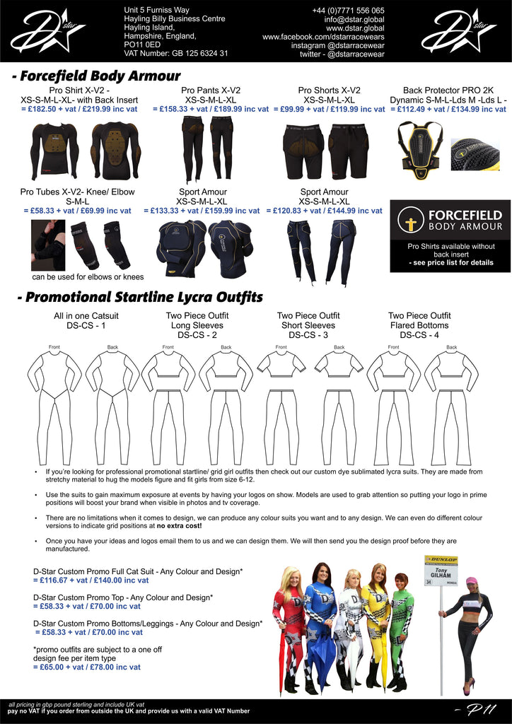 Forcefield Body armour - grid girl cat suit - spandex - lycra outfit