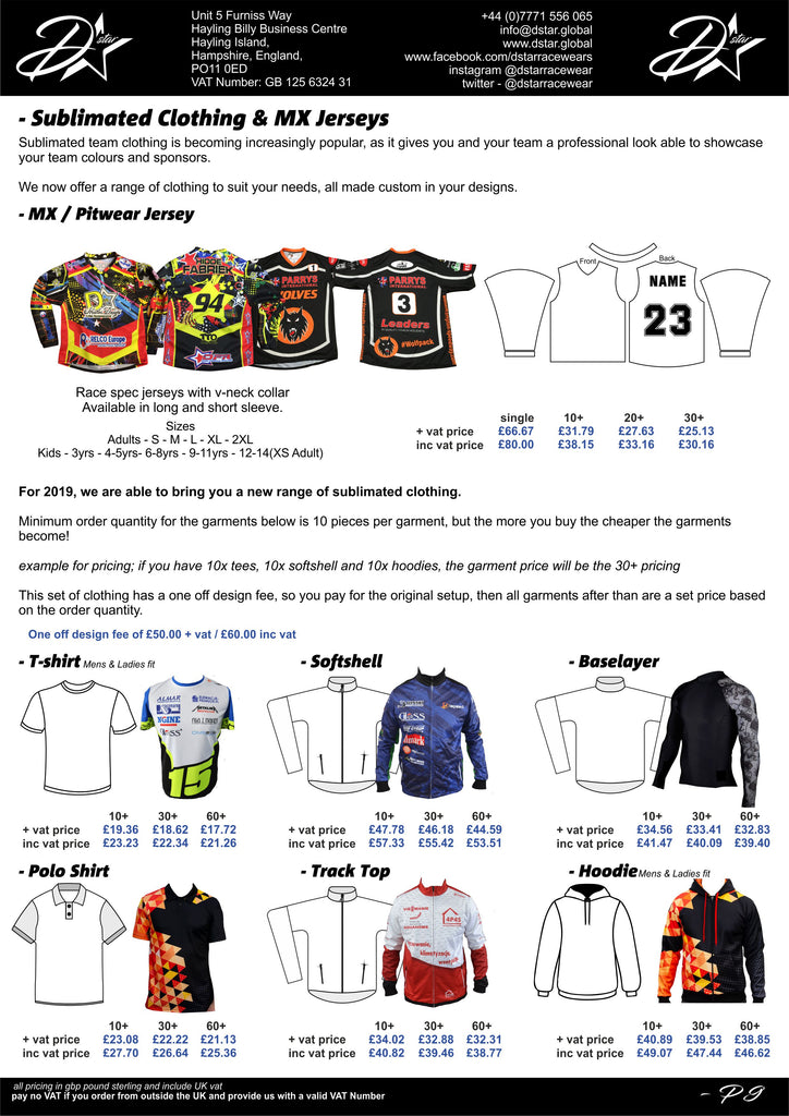 MX Jersey - Motocross top custom sublimated clothing - pit wear