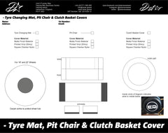 D-Star Pit Chair - Tyre Changing Mat and Bike Transport Cover