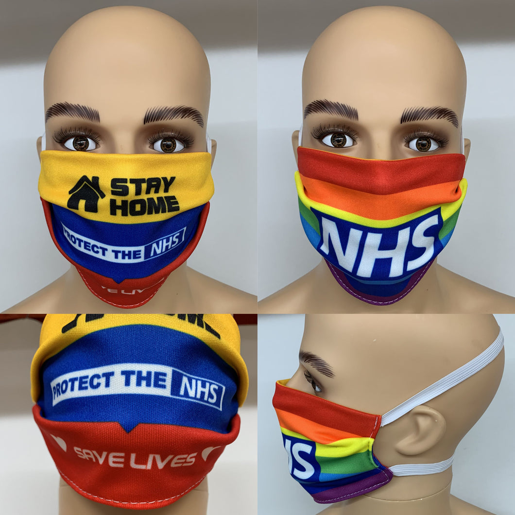 dstar racewear floral face mask - breathable material face covering uk - D-Star Racewear - NHS - Save Lives