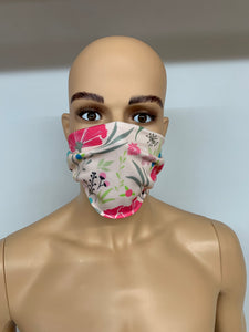dstar racewear floral face mask - breathable material face covering uk