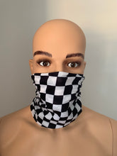 Checker Black / White Snood Scarf