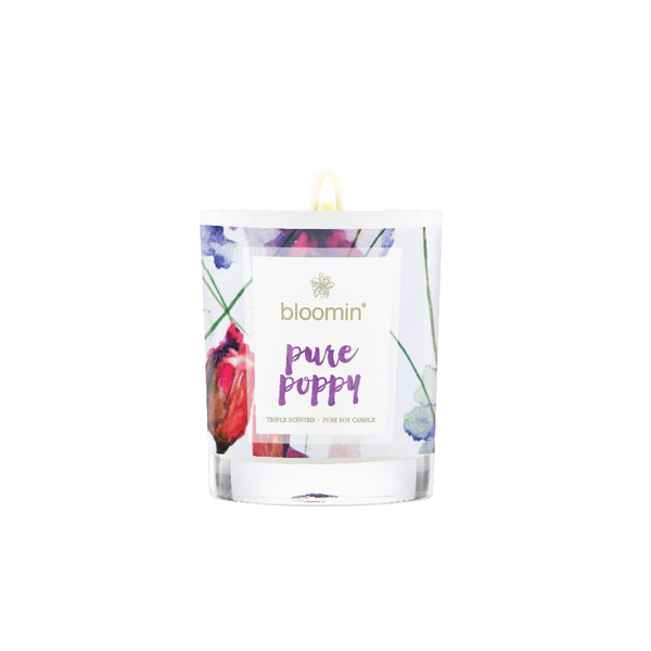 Pure Poppy Soy Candle 220ml