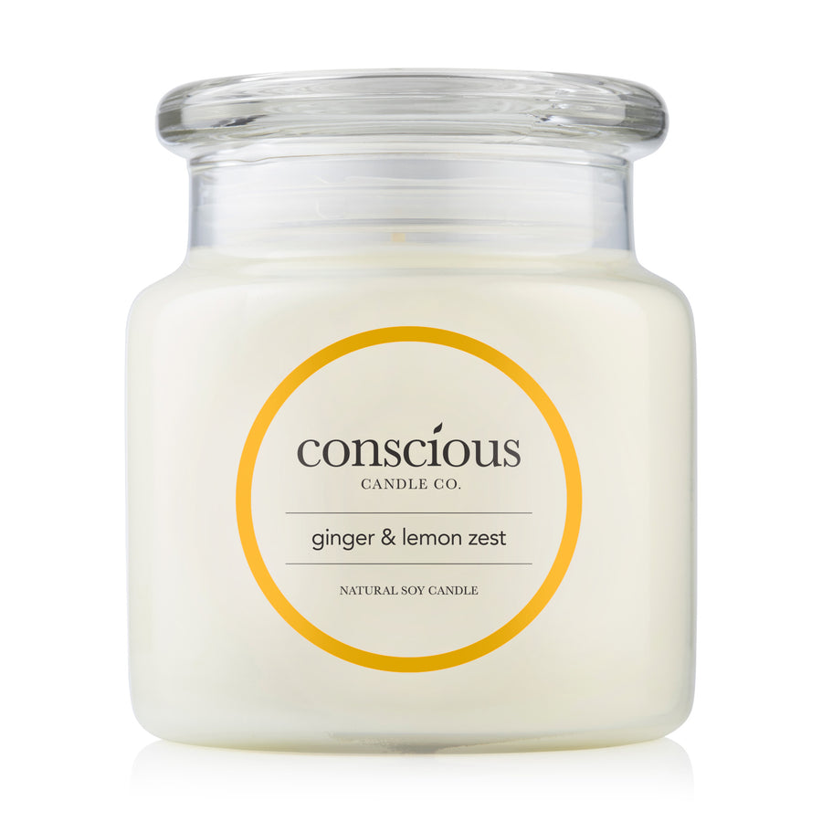 Ginger & Lemon Zest 510g Natural Soy Candle