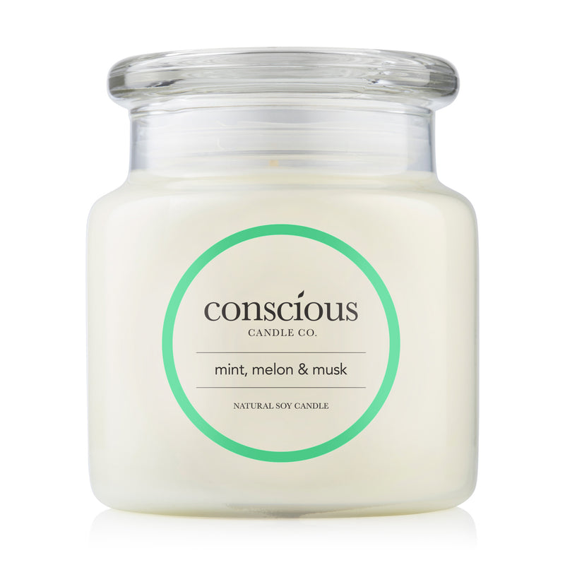 Mint, Melon & Musk 510g Natural Soy Candle