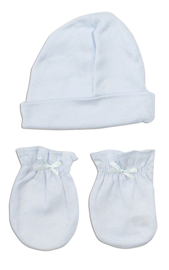 f074056b239 Newborn Baby Boys Cap and Mittens 2 Piece Layette Set - Made in USA-Layette  ...