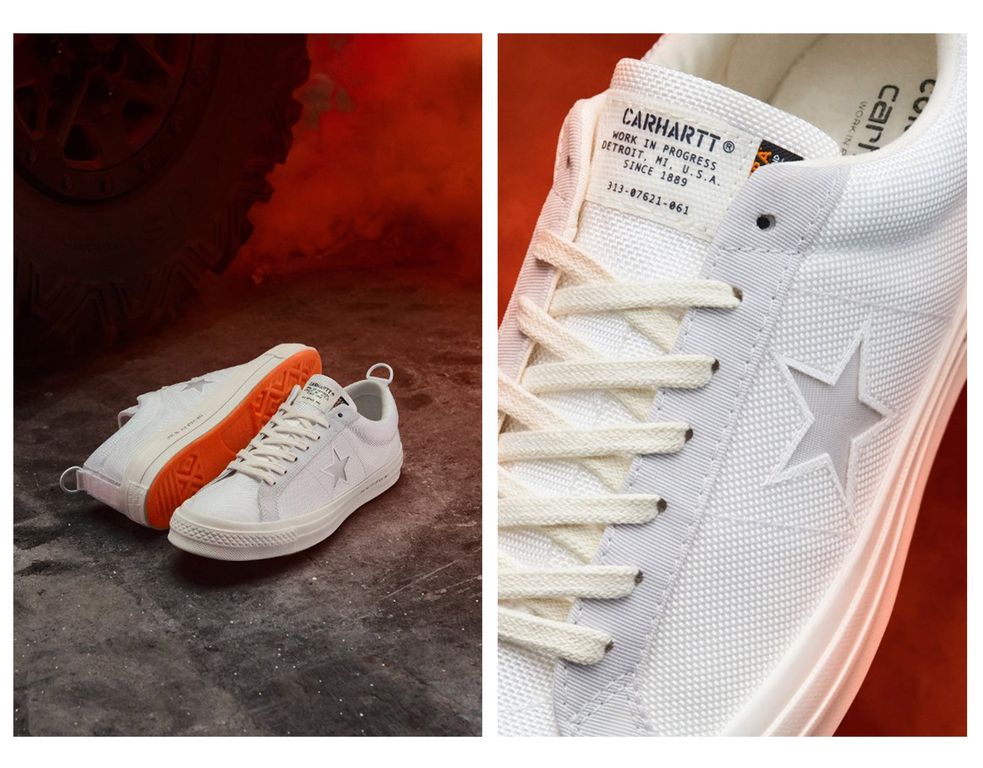 Converse x Carhartt WIP One Star 'White'