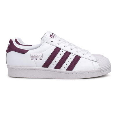 adidas Originals Superstar 80s | White Maroon - CROSSOVER