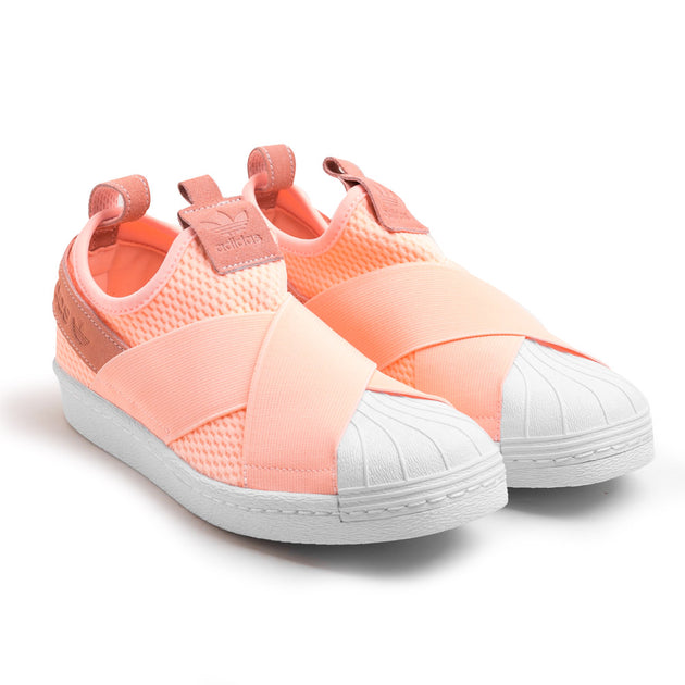 new products bd153 e6ca5 Women's Superstar Slip-on   Clear Orange