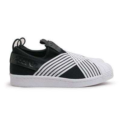 adidas Originals W's Superstar Slip On | Black White - CROSSOVER
