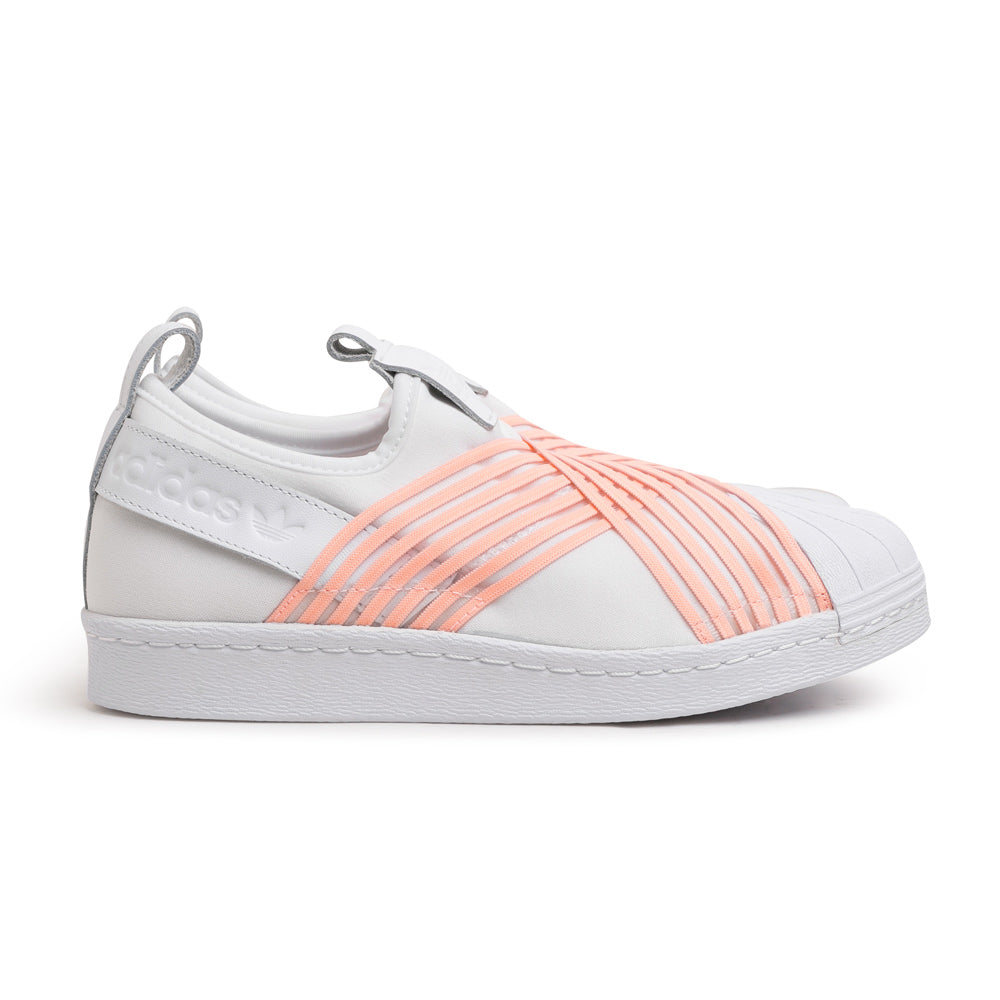 adidas Originals W's Superstar Slip On | White Pink - CROSSOVER ONLINE