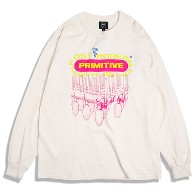 Brain Dead Primitive L/S Tee | Tan - CROSSOVER