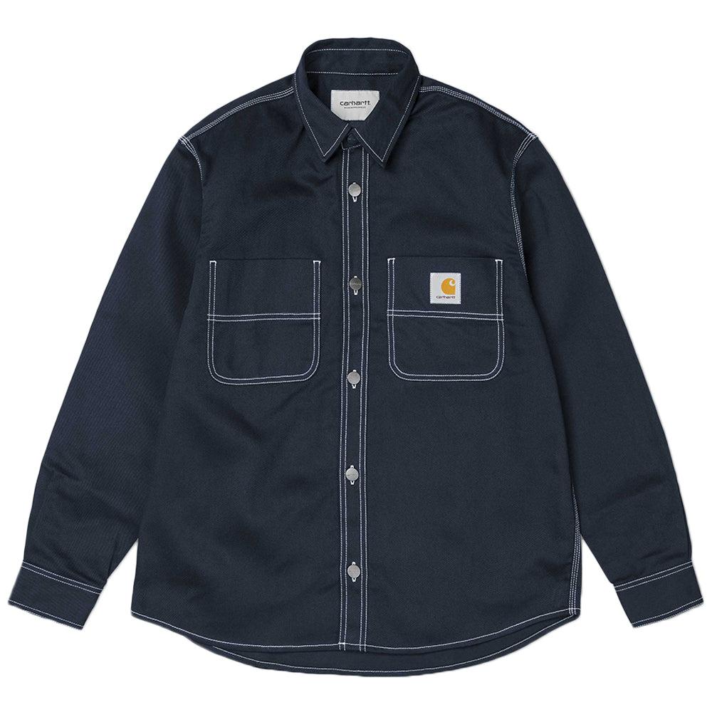 Carhartt WIP Chalk Shirt Jac | Dark Navy - CROSSOVER