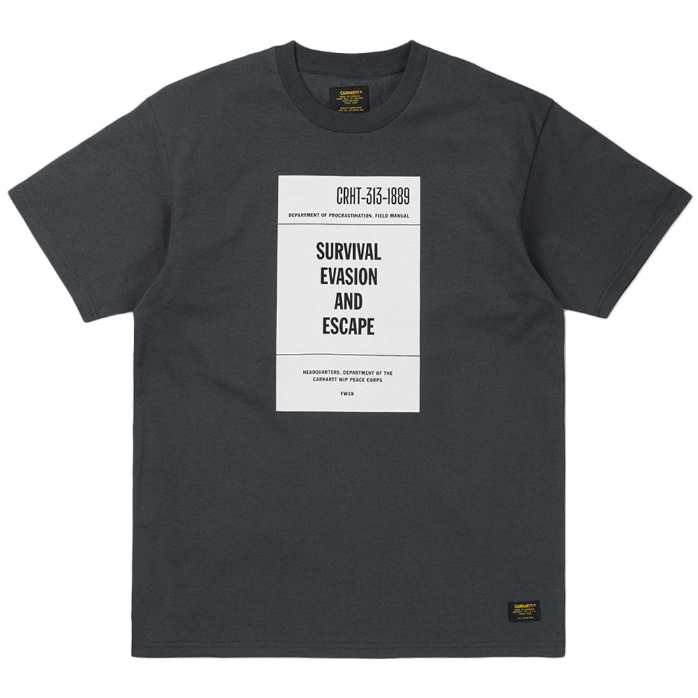 Carhartt WIP Survival Tee | Dark Grey - CROSSOVER ONLINE
