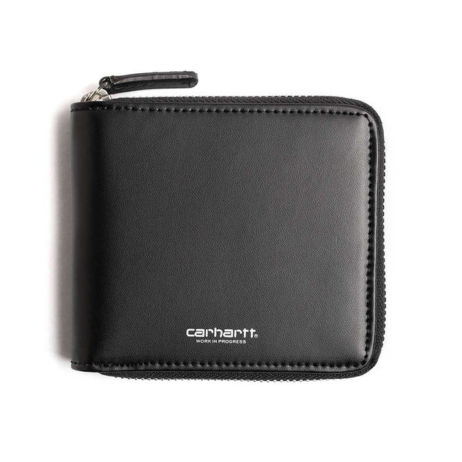 Leather Zip Wallet | Black