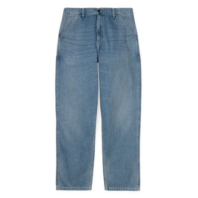 Simple Pant | Blue Worn Bleached