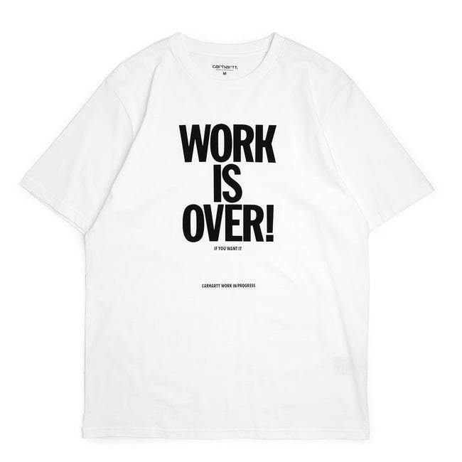 S/S Work Is Over Tee | White