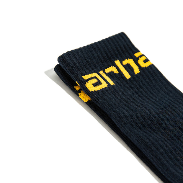 Carhartt Socks | Navy Pop Orange
