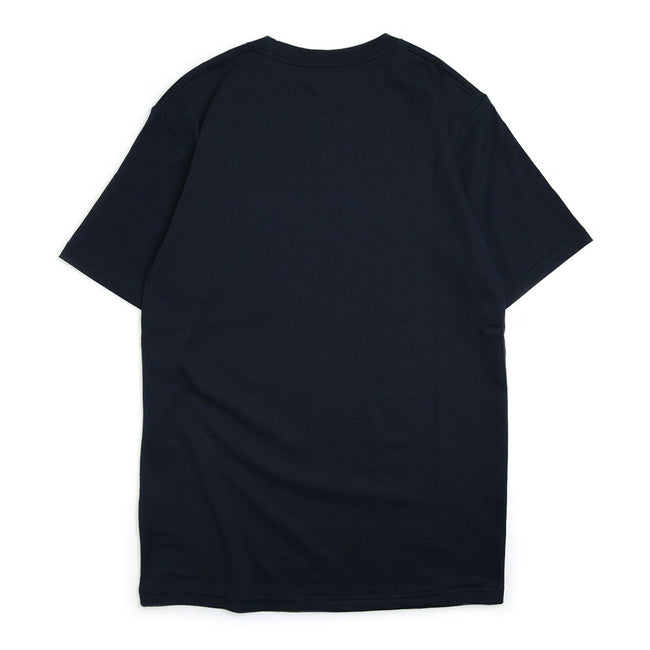 S/S Box College Tee | Navy/White
