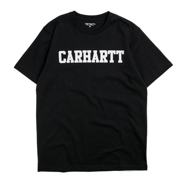 S/S College T-Shirt | Black/White