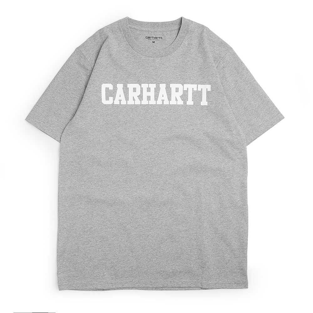 S/S College T-Shirt | Grey/White