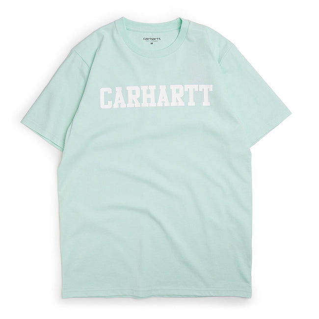 S/S College T-Shirt | Light Green/White