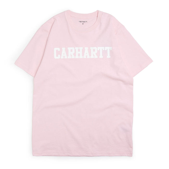 S/S College T-Shirt | Pink/White