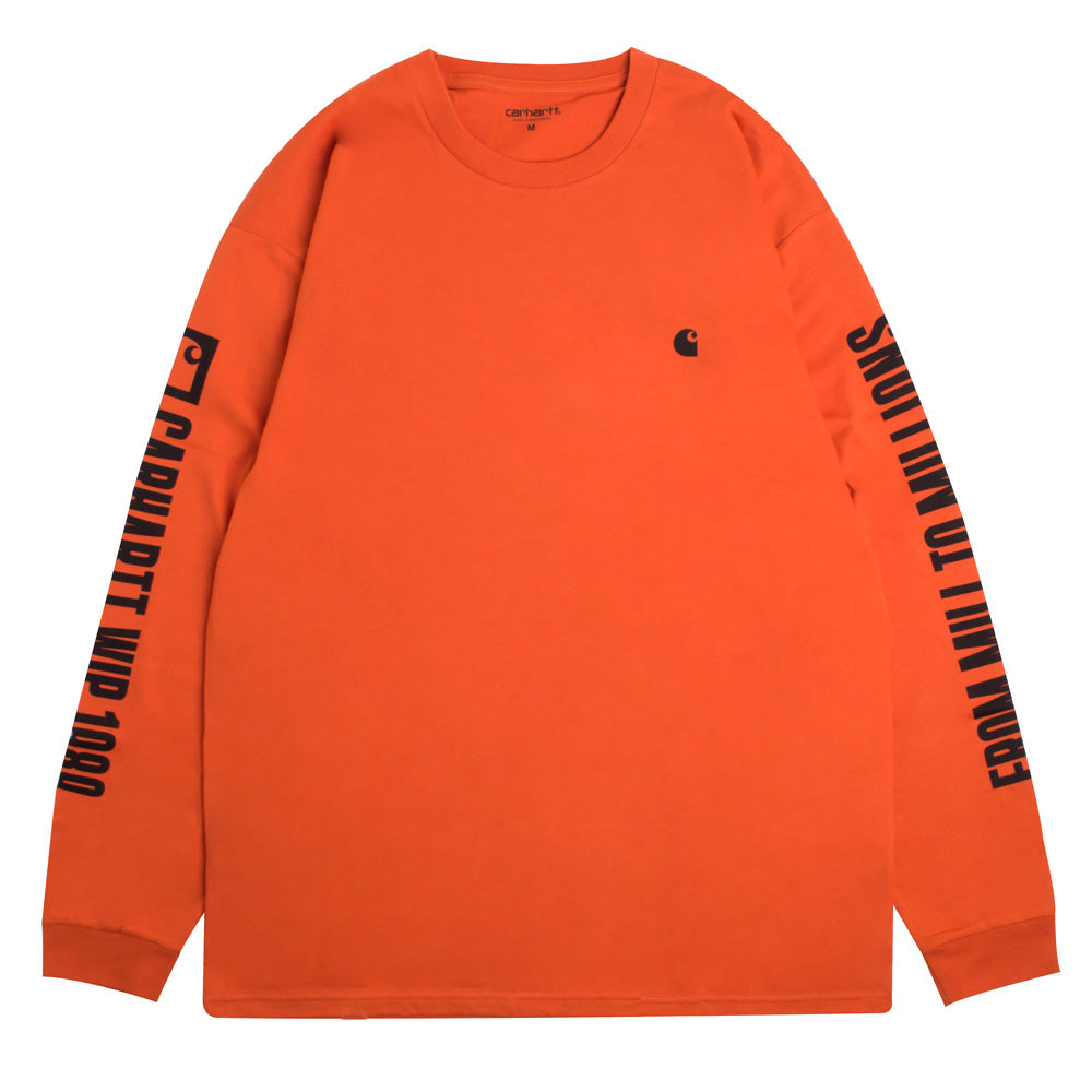 Carhartt WIP 1989 WIP L/S Tee | Orange - CROSSOVER