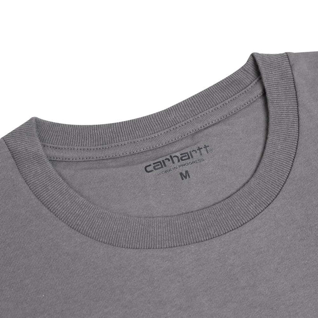 Carhartt WIP American Script Tee | Air Force Grey - CROSSOVER