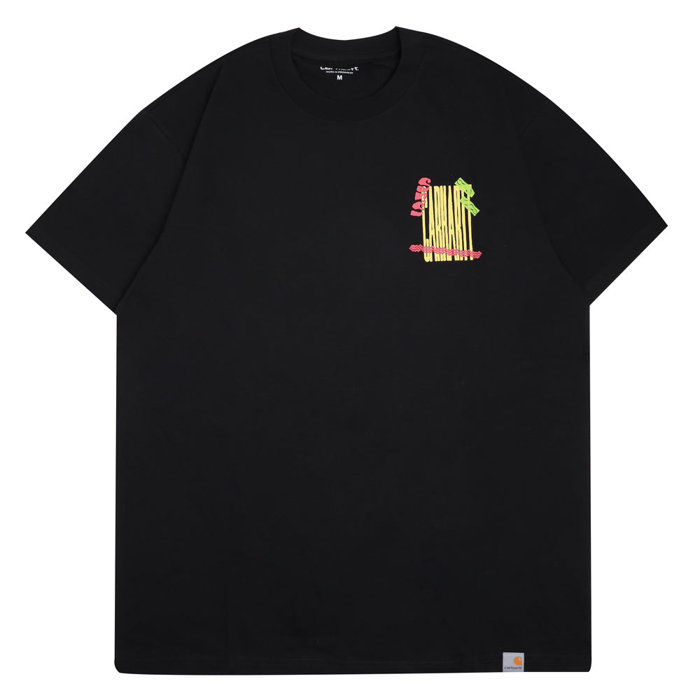 Carhartt WIP Burning Palm Beach Tee | Black - CROSSOVER