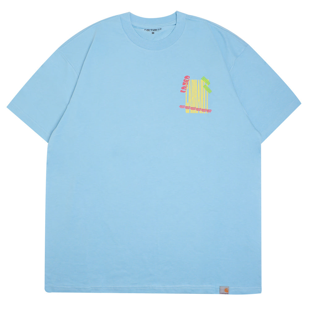Carhartt WIP Burning Palm Beach Tee | Capri - CROSSOVER