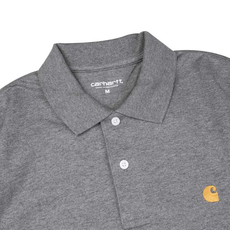 Carhartt WIP Chase Polo Tee | Dark Grey - CROSSOVER ONLINE