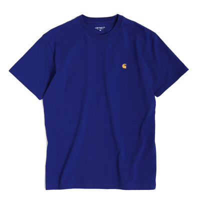 Carhartt WIP Chase Tee | Thunder Blue - CROSSOVER