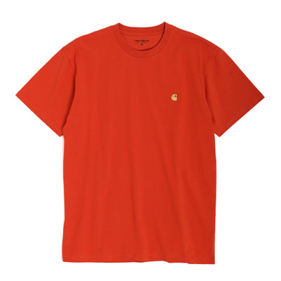 Carhartt WIP Chase Tee | Brick Orange - CROSSOVER